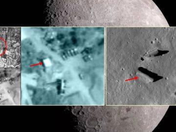 ¿Qué hacen estas construcciones y vehículos en el lado oculto de la Luna?