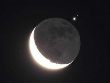 Conjunción y ocultación de Luna y Venus: Venus ocultado por la Luna