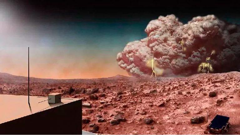 El agua de Marte habría sido lanzada al espacio por gigantescas columnas de polvo