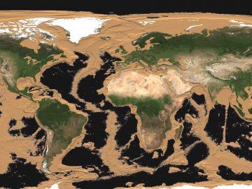 ¿Cómo se vería la Tierra sin agua? Animación muestra el planeta totalmente seco