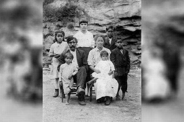 Familia Melungeon en Tennessee (Public domain).