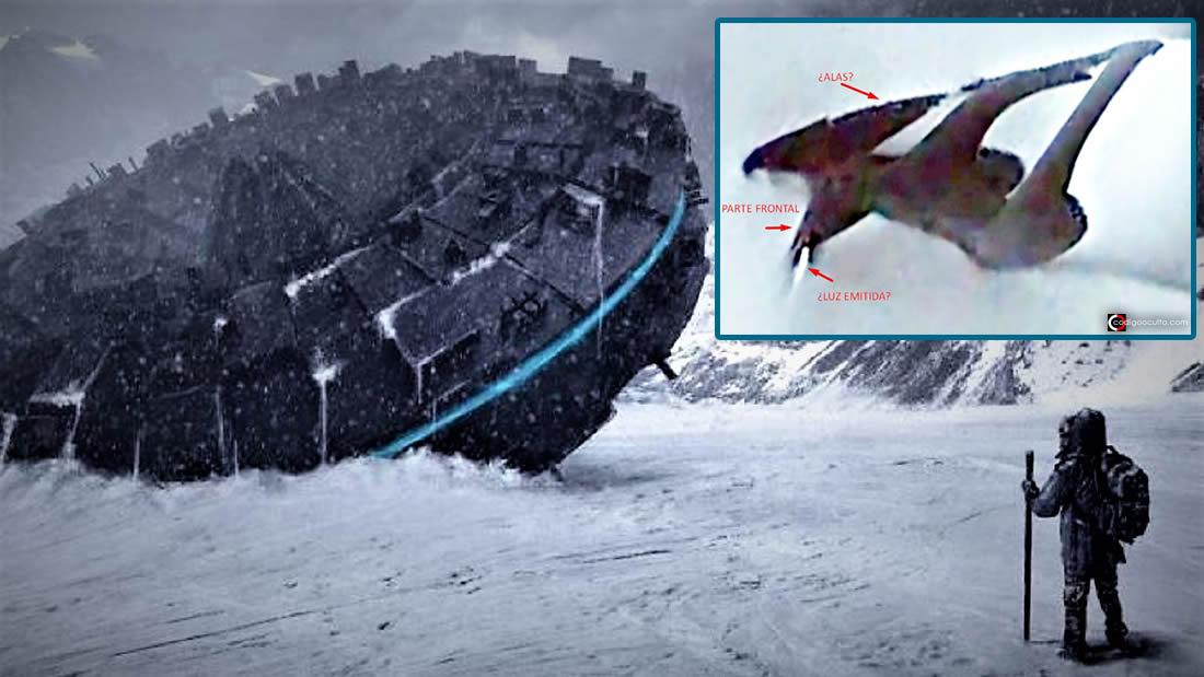 ¿Antigua nave alienígena en la Antártida?