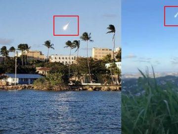 Enorme bola de fuego atraviesa el cielo de Puerto Rico
