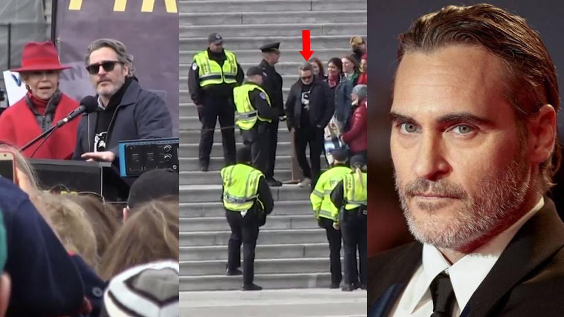 Joaquin Phoenix es detenido por protestar contra el cambio climático