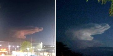 «Mano de Dios» aparece en el cielo de Brasil