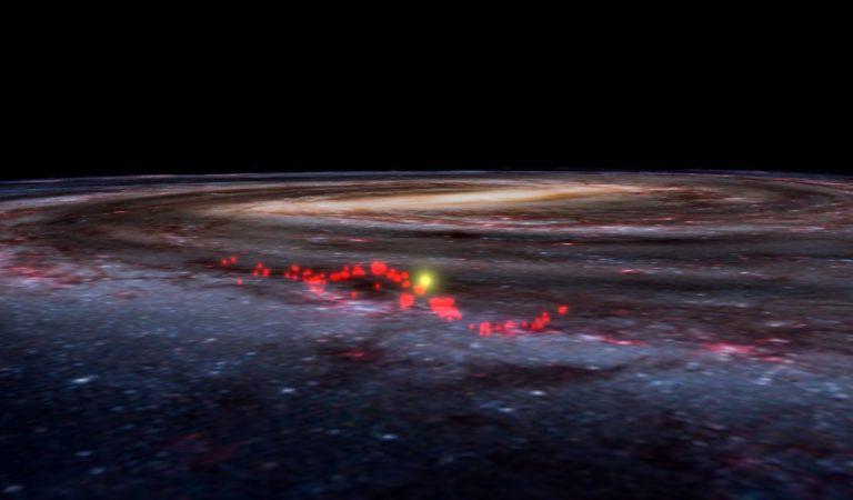 Astrónomos descubren una «onda cósmica» donde nacieron las estrellas más jóvenes de la Vía Láctea