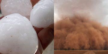 Tormentas de polvo, tormentas eléctricas y granizo golpean Australia