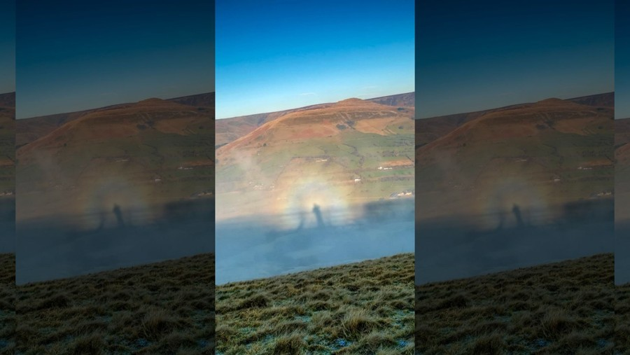 «Ángel en el cielo» es captado sobre montañas de Reino Unido