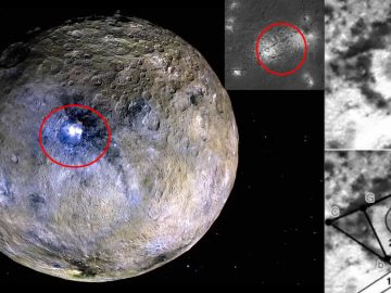 Hallan «estructura alienígena cuadrada» dentro del triángulo de Ceres