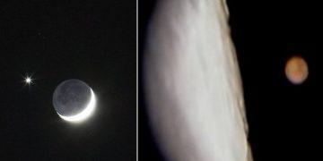 La Luna ocultará a Marte mañana por la madrugada