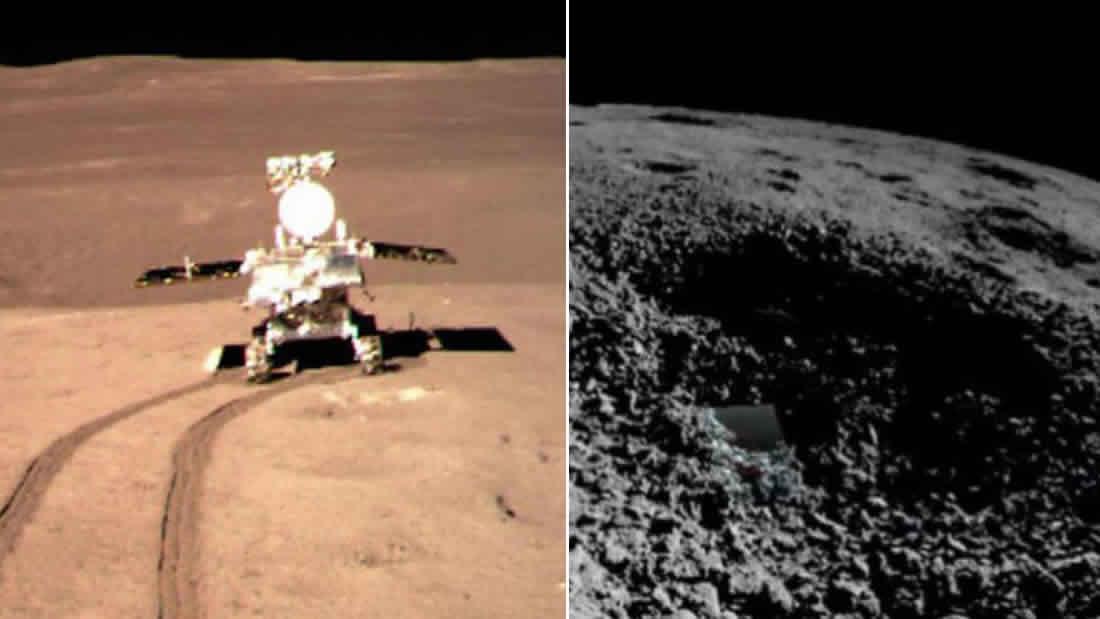 Nave espacial china observa 40 metros debajo del lado oculto de la Luna
