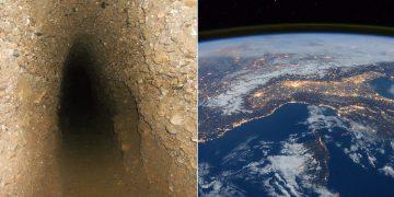 Túneles subterráneos que interconectan los continentes de la Tierra