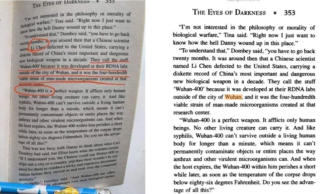 ¿Libro de 1981 «predijo» la aparición del coronavirus en China?