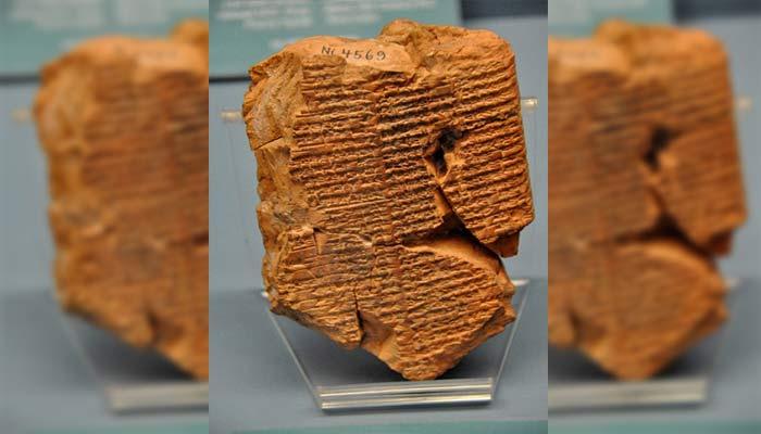 Tablillas de barro con escritura cuneiforme del poema que relata la historia de Inanna