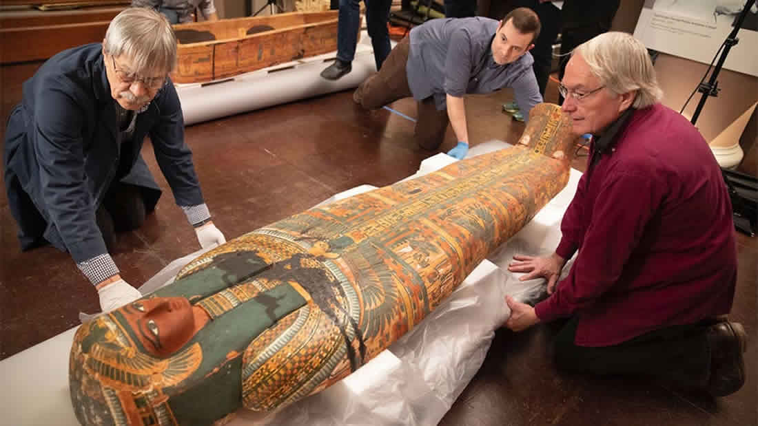 Hallan imagen de Dios en Ataúd Egipcio Antiguo