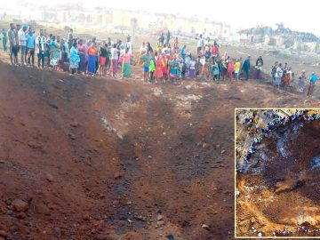 Meteorito impacta en Nigeria destruyendo casas y dejando un cráter de 21 metros