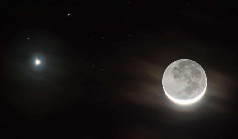 Mira la triple conjunción de la Luna, Venus y las Pléyades este sábado 28 de marzo
