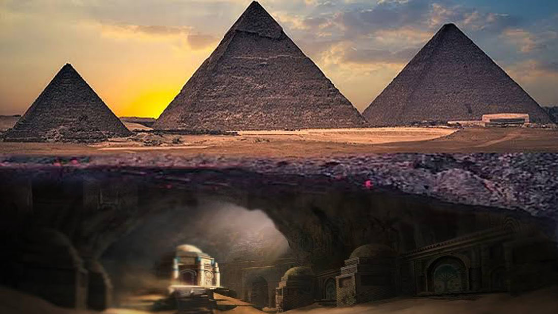 Mundo subterráneo de 6 kilómetros de largo bajo las Pirámides de Egipto