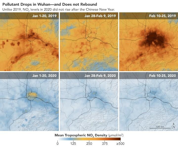 El coronavirus ha disminuido la contaminación atmosférica global