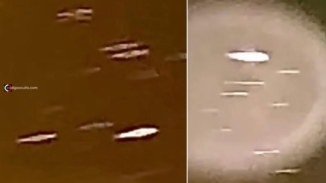 Testigo capta una flota de posibles «naves desconocidas» en el cielo