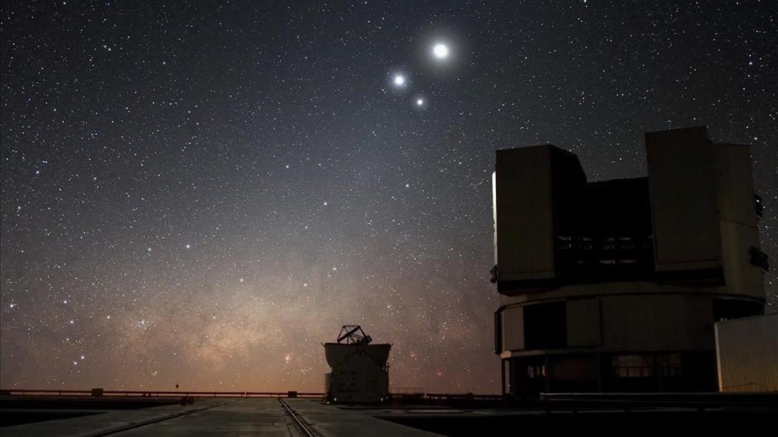 Este miércoles 15 de abril: Júpiter, Saturno, la Luna y Plutón juntos en el cielo