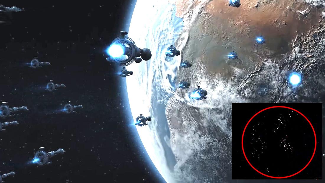 Flota de cientos de OVNIs «en dirección a la Tierra» es captada desde la Estación Espacial Internacional