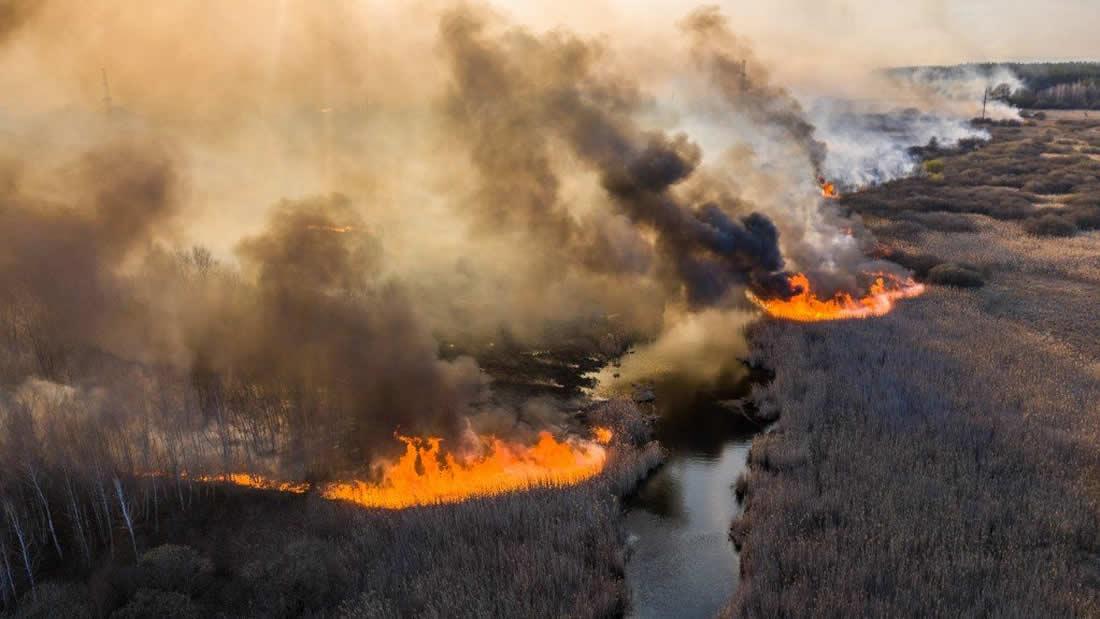 Incendios forestales en Chernóbil se acercan a depósitos de residuos radiactivos
