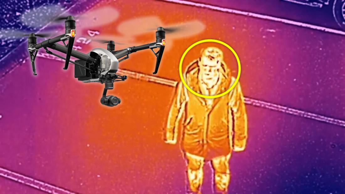 Policía utilizará drones para detectar fiebre en personas e incumplimiento de distanciamiento social