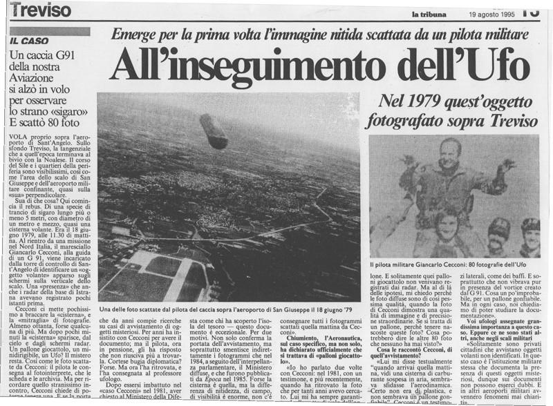 El caso del piloto militar que fotografió un OVNI cigarro sobre Italia a pocos metros de distancia
