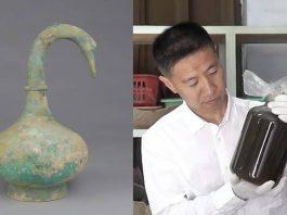 Arqueólogos hallan un misterioso líquido en tumba de un guerrero de 2.000 años de antigüedad