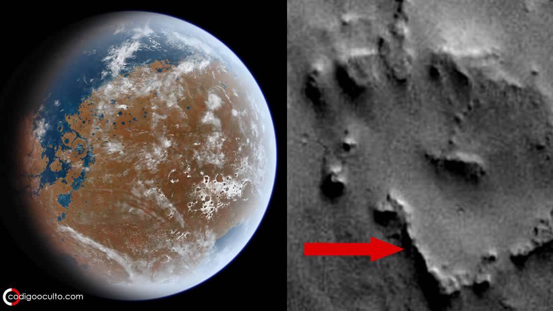 ¿Es esto una antigua ciudad descubierta en Marte? (VÍDEO)
