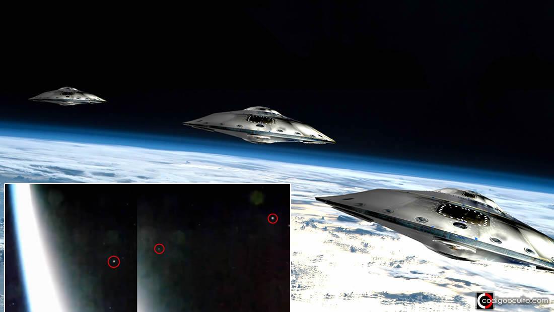 Estación Espacial captura una «Evacuación Masiva de OVNIs» desde la Tierra