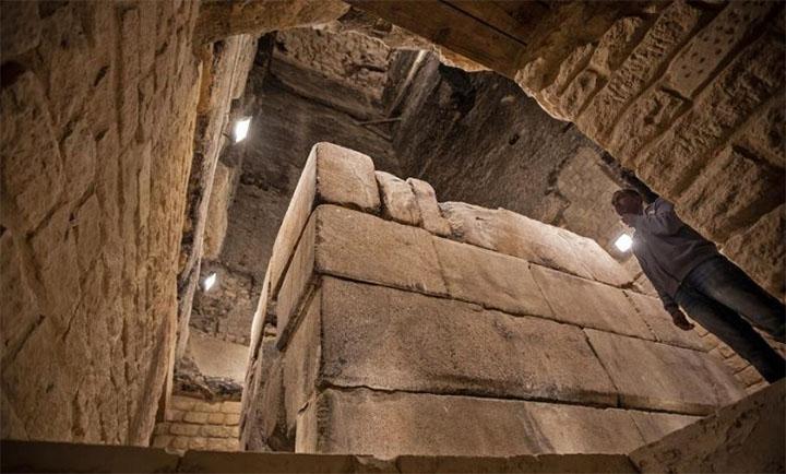 Cámara subterránea de la pirámide