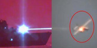 Marina de EE.UU. derriba un Drone utilizando un Arma Láser por primera vez