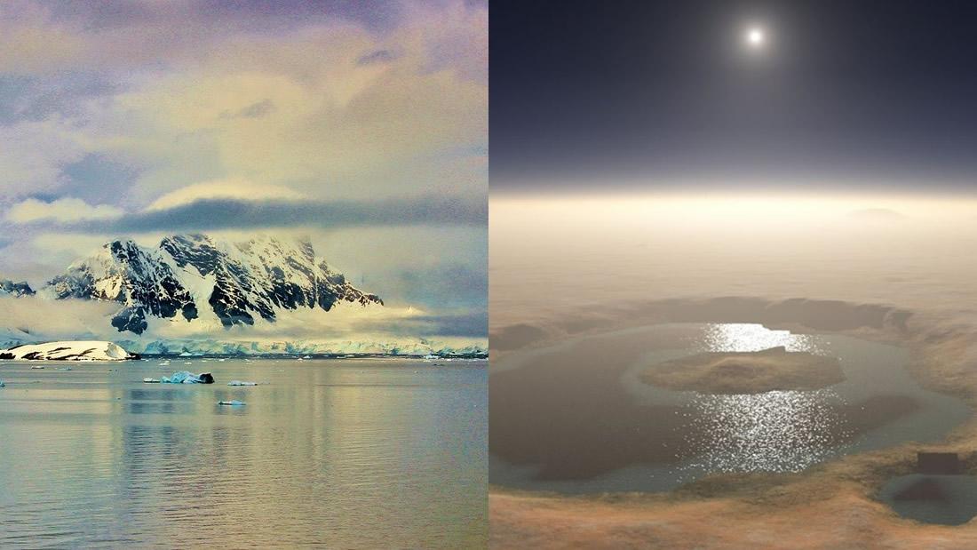 Descubren evidencia de agua subterránea marciana oculta bajo la Antártida