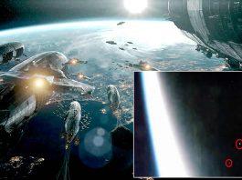 Flota de OVNIs vuelan más allá de la Estación Espacial a una velocidad insólita
