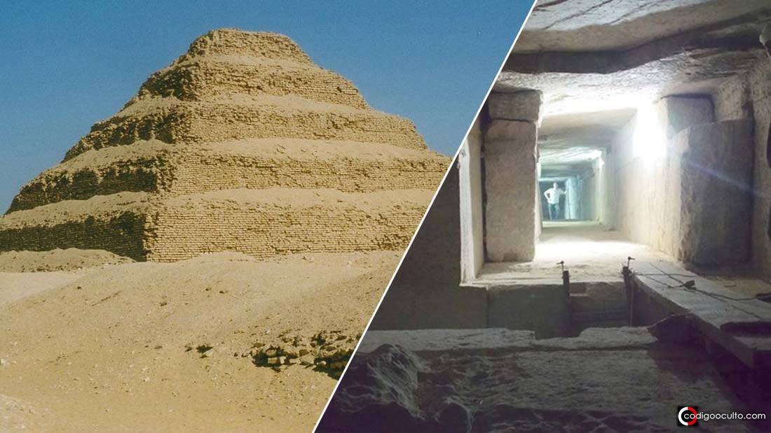 Laberinto bajo tierra en Egipto: mundo subterráneo en la pirámide escalonada de Zoser