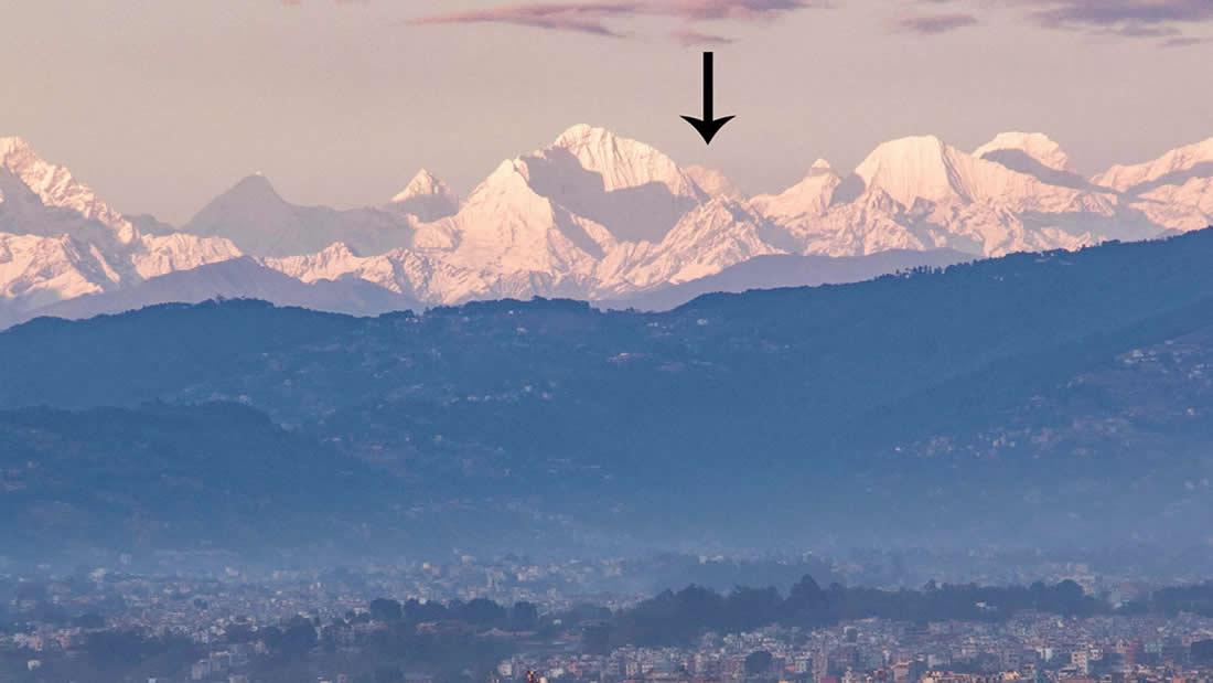 Monte Everest es visible desde 200 km de distancia debido a la disminución de la contaminación