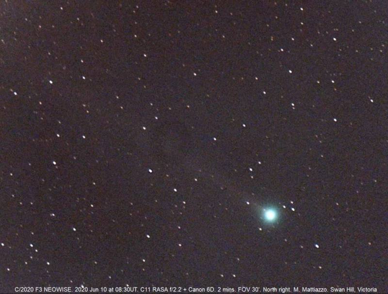 Cometa NEOWISE podría volverse tan brillante que sería visible a simple vista en julio