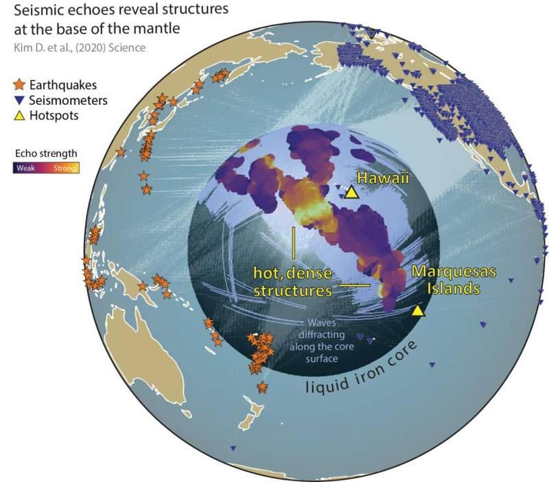 Detectan gigantescas estructuras tridimensionales subterráneas cerca del núcleo de la Tierra