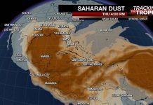 Enorme nube de polvo del desierto del Sahara parece dirigirse a EE.UU.