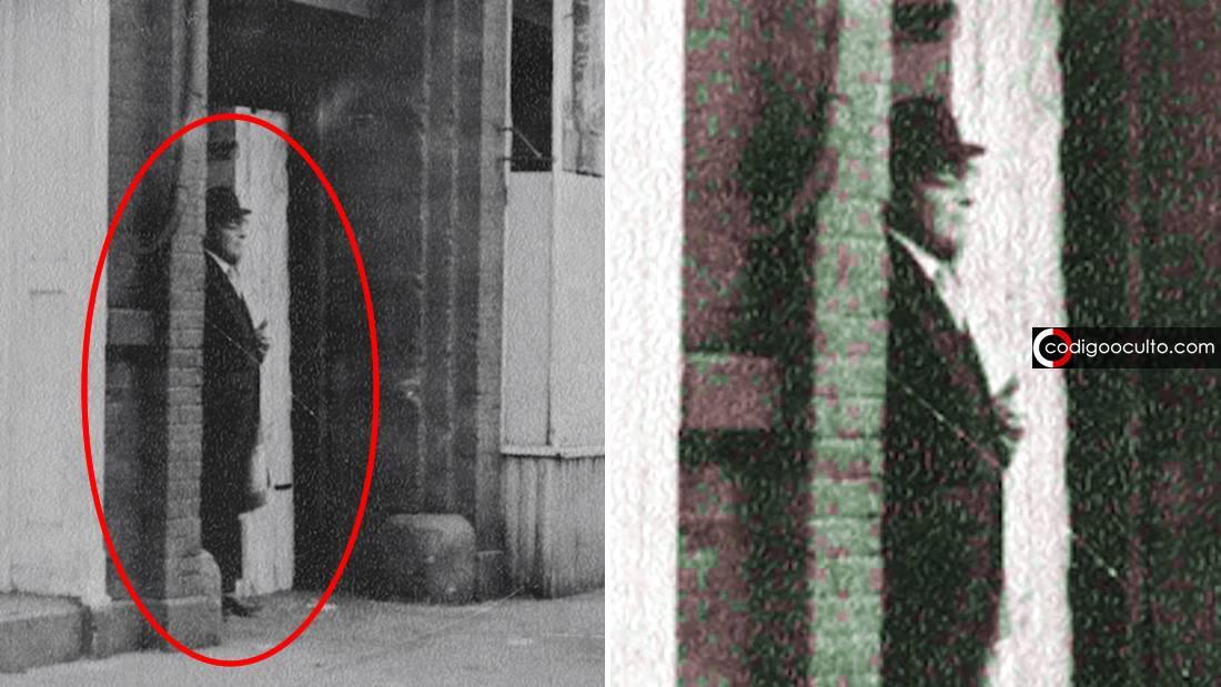 ¿Es este un Hombre de Negro real captado en fotografía?