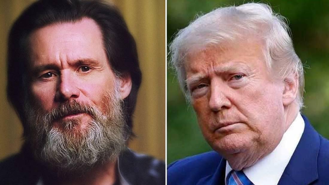 Jim Carrey dice: «Trump podría ser el primer presidente estadounidense en desertar»