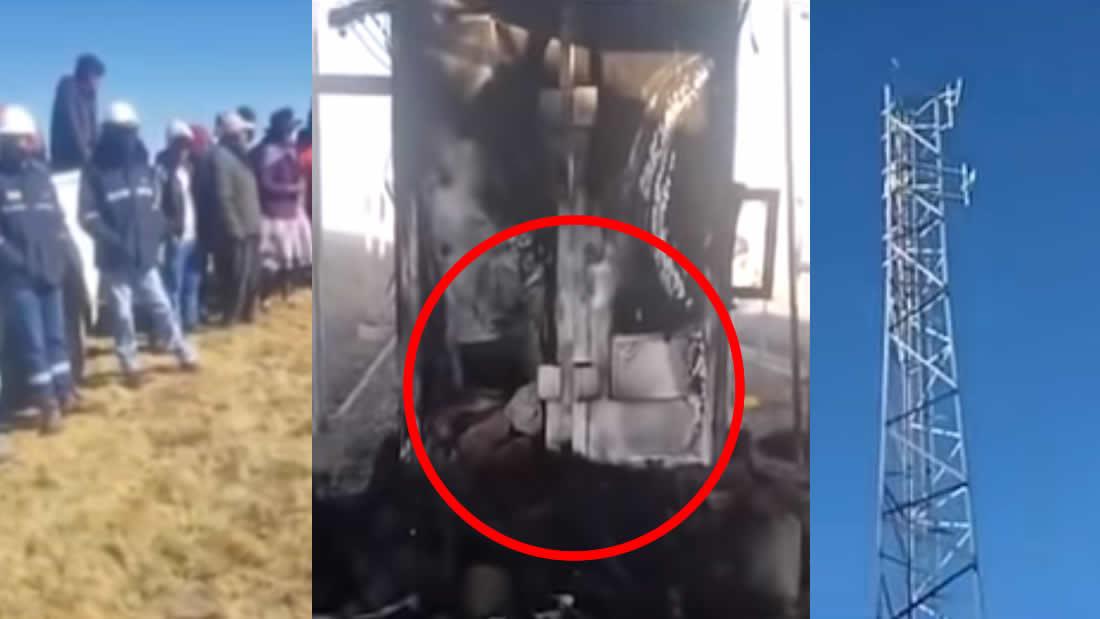 Perú: pobladores secuestran a 8 ingenieros que instalaban supuestas antenas 5G (VÍDEO)