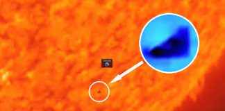 Triángulo negro enorme aparece sobre el Sol