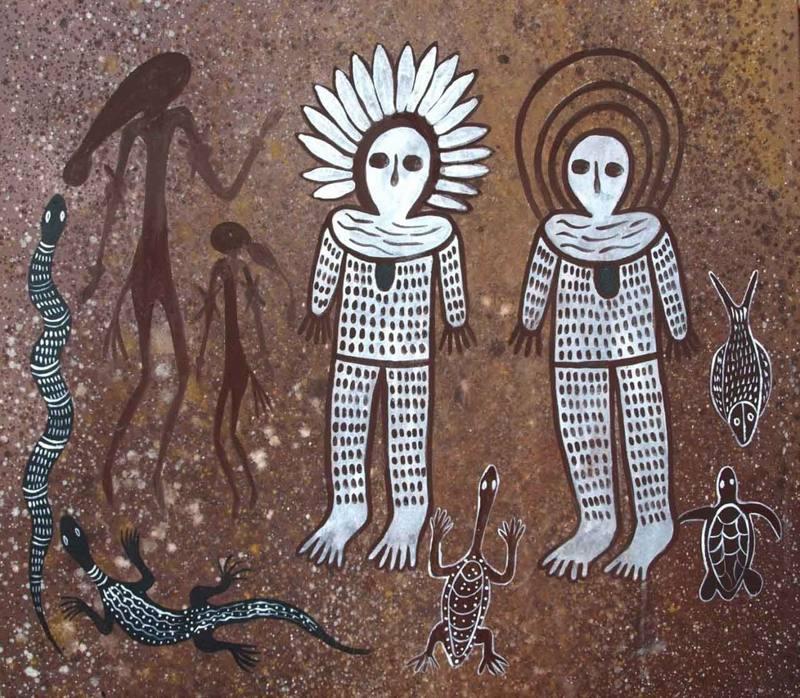 Wandjinas y la simbología de la Serpiente: seres que descendieron a la Tierra en tiempos muy antiguos (VÍDEO)