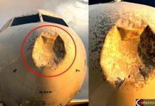 Avión comercial golpeado por un objeto misterioso en pleno vuelo (EE.UU.)