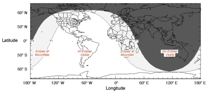 Eclipse Lunar Penumbral en el cielo de América este 5 de julio