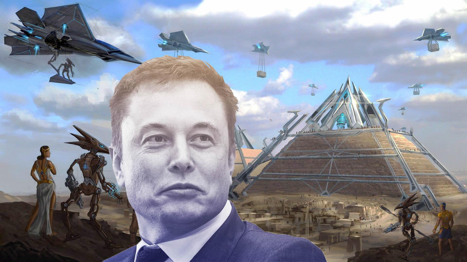 Elon Musk twitea que los extraterrestres construyeron las pirámides