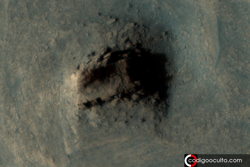 ¿Es esto una antigua construcción artificial en Marte o una formación natural?